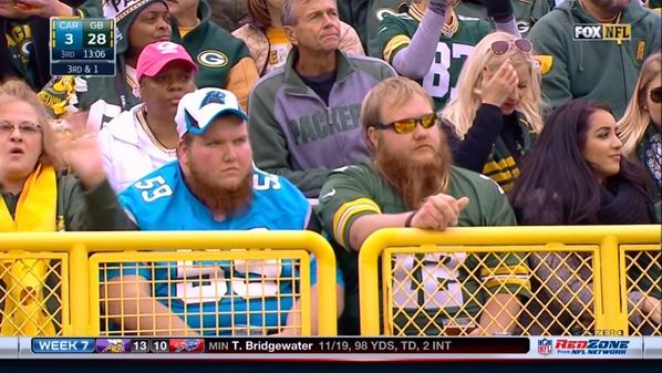 Packers Panthers Fans