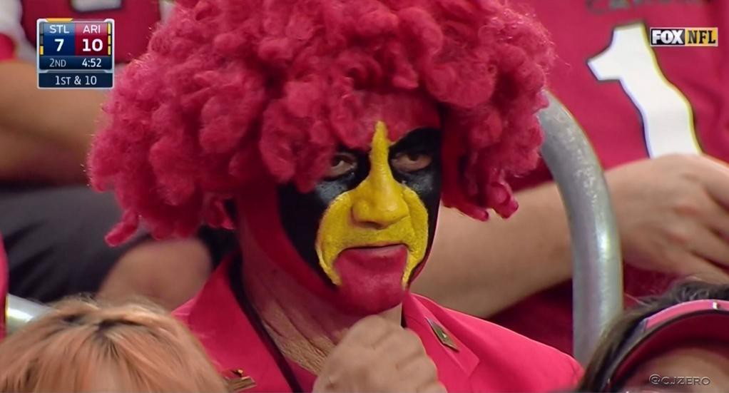 Cardinals Fan Red Afro