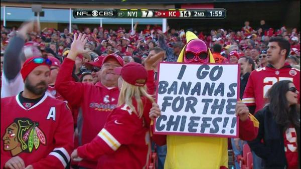 Chiefs fan bananas